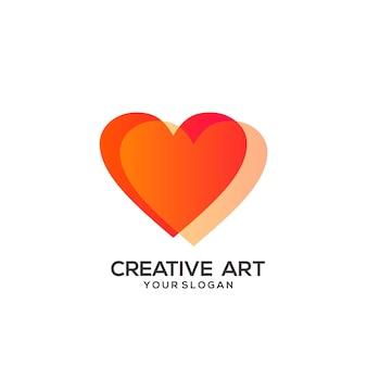Un design coloré dégradé de logo d'amour