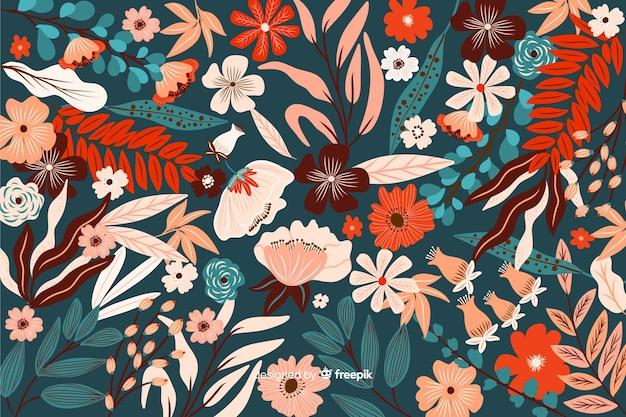 Design coloré fond floral exotique