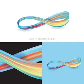 Design coloré à l'infini
