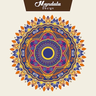 Design coloré de mandala