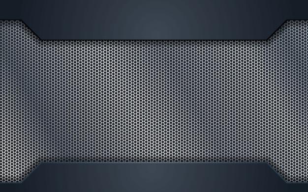 Design concept abstrait en acier argenté