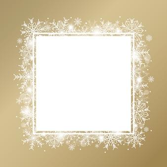 Design de concept de fond de noël de flocon de neige blanc