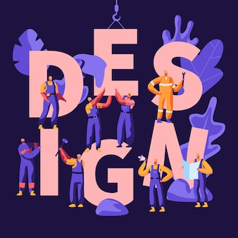 Design concept illustration plate de dessin animé