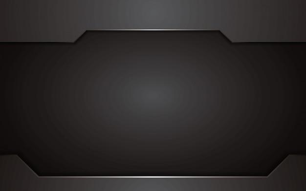 Design de concept de technologie abstraite fond noir. arrière-plan de modèle de vecteur.