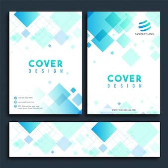 Design de la couverture, brochure et ensemble des bannières de médias sociaux.