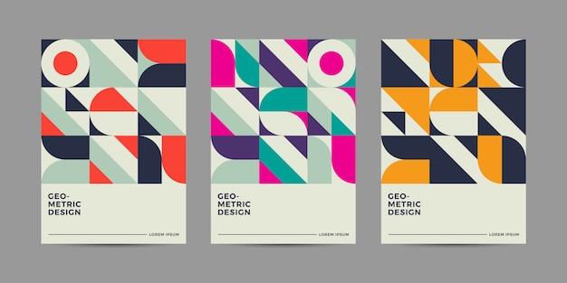 Design de couverture géométrique rétro