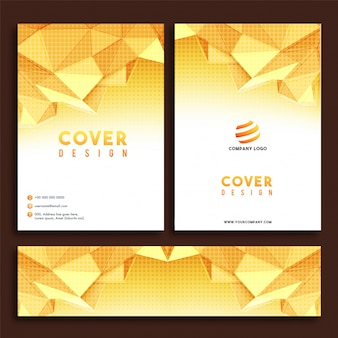 Design de couverture, en-tête de site web avec des polygones et effet de demi-teinte.