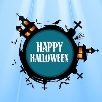 Design créatif de halloween avec espace pour votre texte