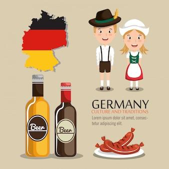 Design de la culture allemande