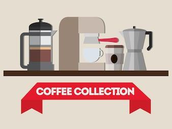 Design de magasin de boissons au café.