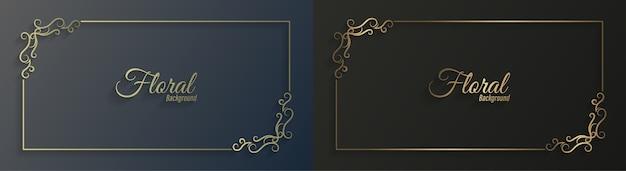 Design décoratif de cadre floral ornemental,