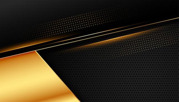 Design doré élégant sur noir foncé