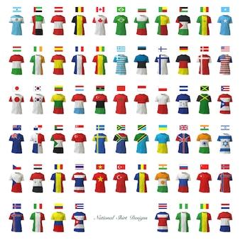 Design de drapeau de collection de t-shirt