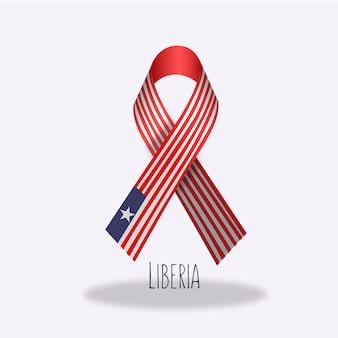 Design du ruban du drapeau du liberia