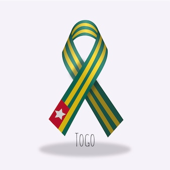 Design du ruban du drapeau du togo