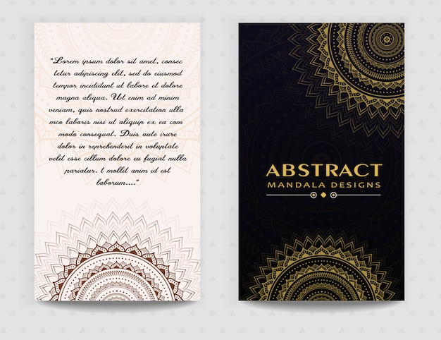 Design élégant carte mandala prime doré