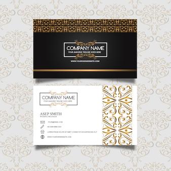Design élégant de carte de visite