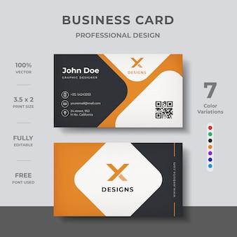 Design élégant de cartes de visite