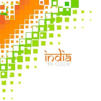 Design élégant du drapeau de l'inde