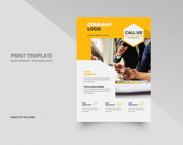 Design élégant flyer