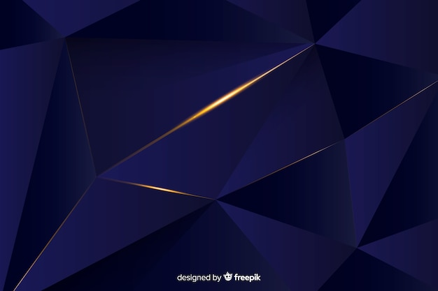Design élégant de fond polygonale foncé