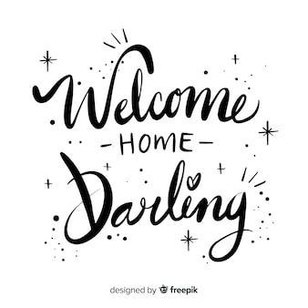 Design élégant de lettrage de bienvenue