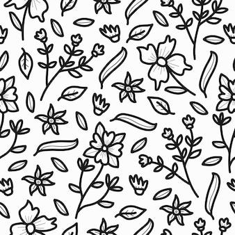 Design élégant de motif de fleur de dessin animé doodle