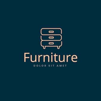Design élégant pour le logo du meuble