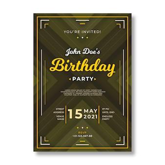 Design élégant pour le modèle de carte d'anniversaire
