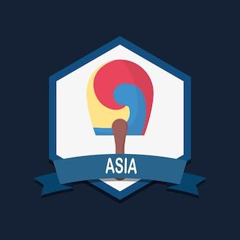 Design de l'emblème de l'asie