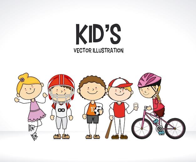 Design Enfants Vecteur Premium