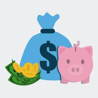 Design d'entreprise et d'argent.