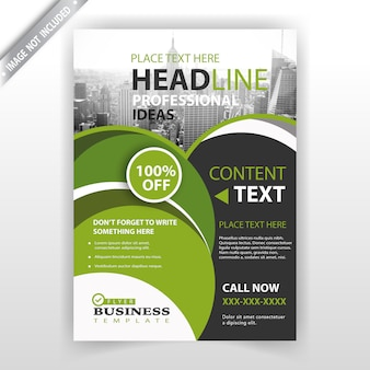 Design d'entreprise brochure verte