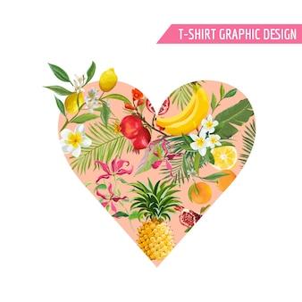 Design d'été avec des fruits tropicaux