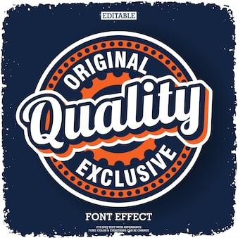 Design d'étiquette de qualité et original