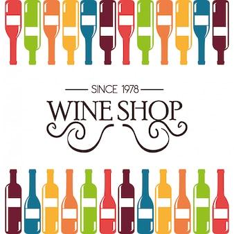 Design étiquette de vin isolé