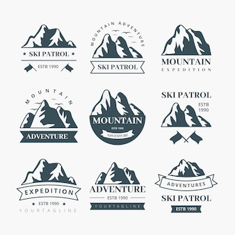 Design étiquettes de montagne