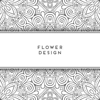 Design de fleurs noir et blanc