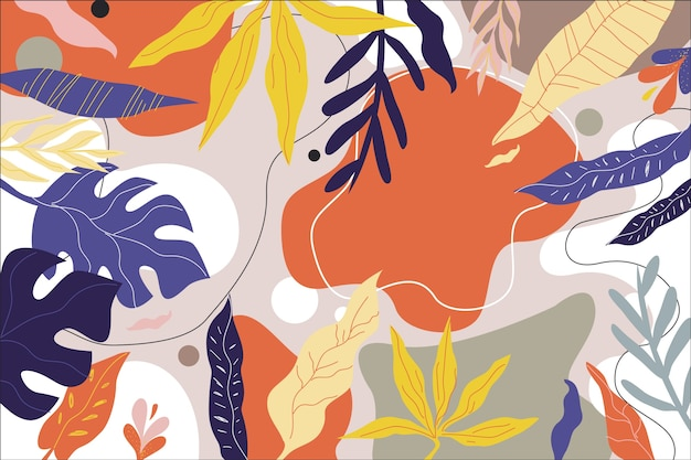 Design floral abstrait floral