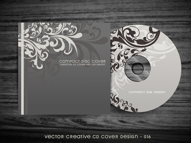 Design floral élégant de conception de couverture de cd