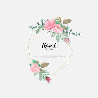 Design floral avec feuilles et fleurs