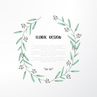 Design floral avec des feuilles