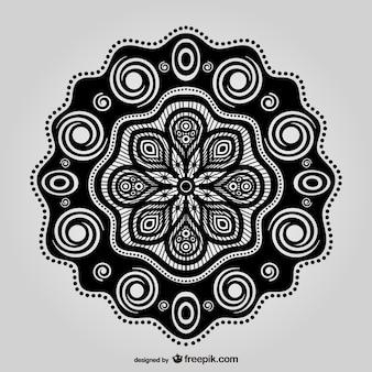 Design floral oriental cru