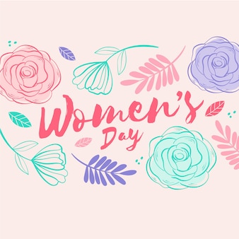 Design floral pour la journée de la femme