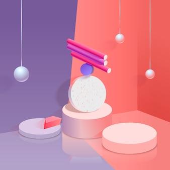 Design de fond 3d coloré