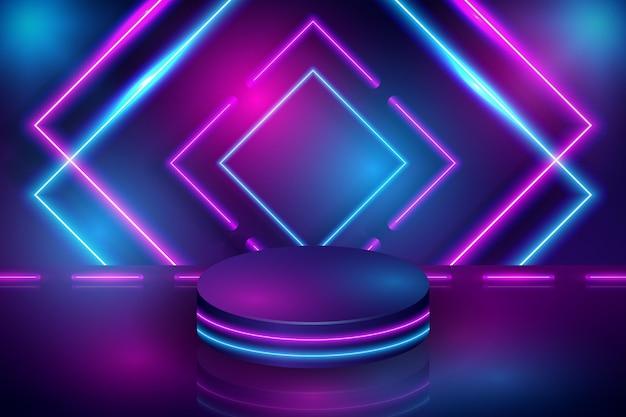 Design de fond abstrait carrés de néon