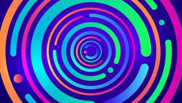 Design de fond abstrait cercle créatif mouvement