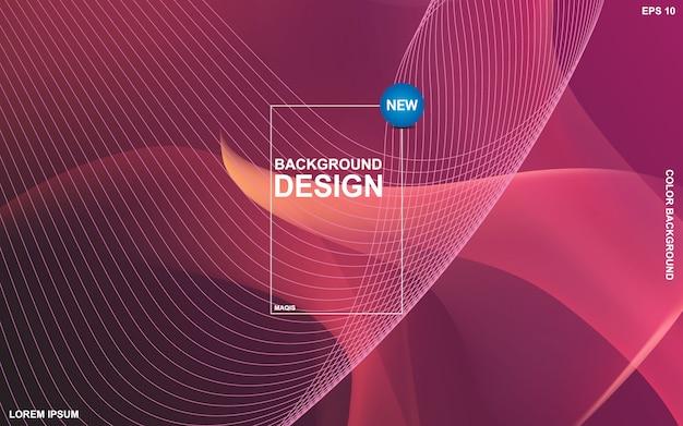 Design de fond abstrait couleur liquide. composition de formes de gradient fluide.