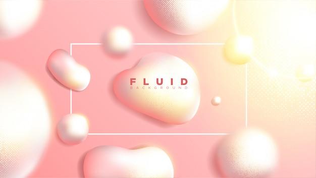 Design de fond abstrait liquide