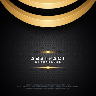 Design de fond abstrait de luxe noir et or.